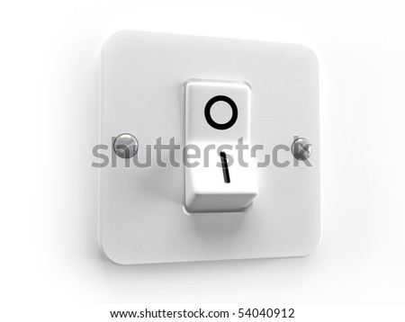 Switch OFF for lighting system control - stock photo