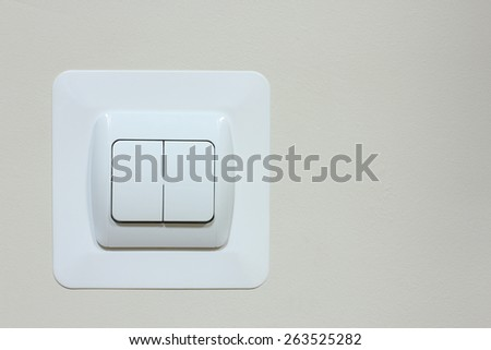 switch on the wall - stock photo
