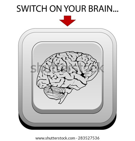 Switch on your brain - stock photo