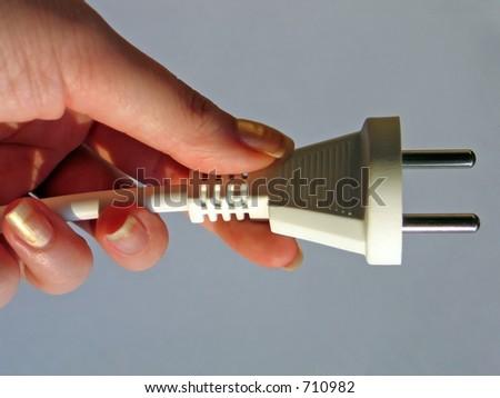 Switch-plug - stock photo