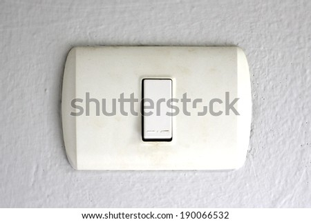 Switch socket install on the wall