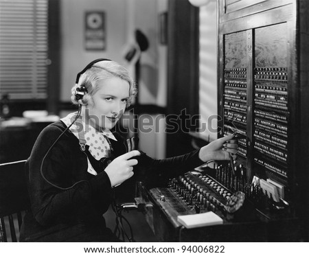 SWITCHBOARD - stock photo