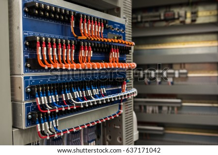 switchboard wiring stock photo (royalty free) 637171042 shutterstock meter wiring switchboard wiring #27