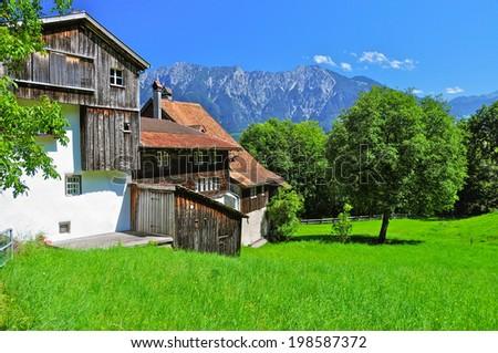 Switzerland countryside, Buchs, Sankt-Gallen, Switzerland - stock photo