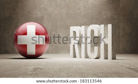Switzerland High Resolution Rich Concept - stock photo