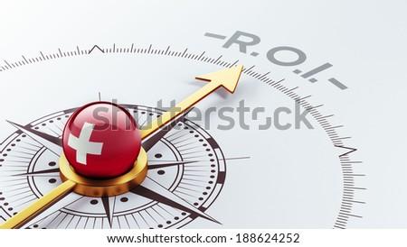 Switzerland High Resolution ROI Concept - stock photo