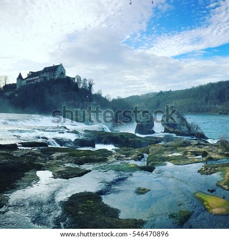 Switzerland, view, rhine fall