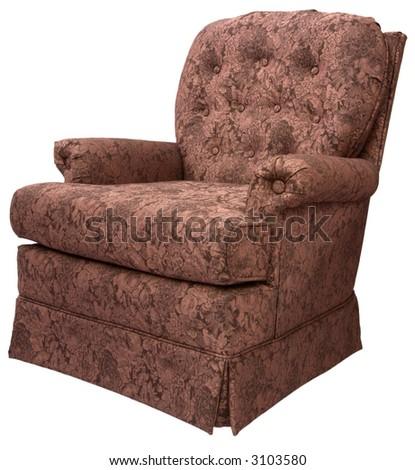 Swivel Rocker Accent Chair - stock photo