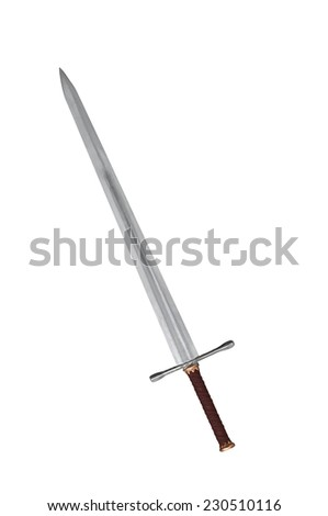 sword isolated on white - stock photo