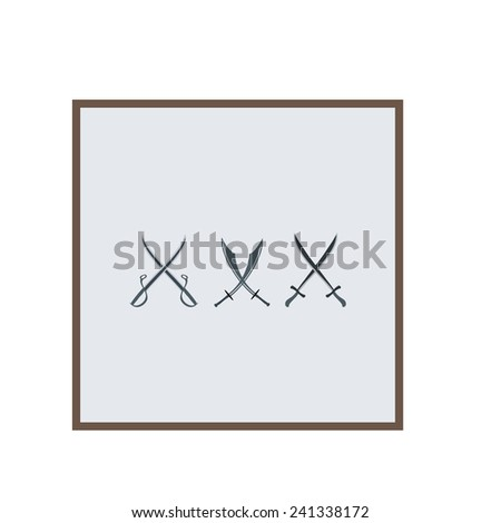 Sword on white background - stock photo