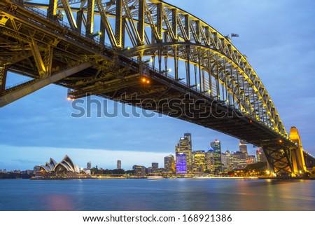 Sydney At Night - stock photo
