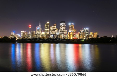 Sydney at Night, Australia - stock photo