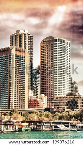 Sydney, Australia. City skyline and buildings. - stock photo
