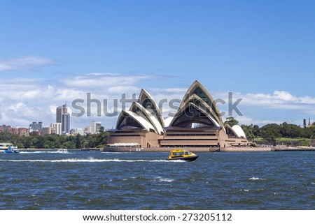 Sydney, Australia - January 29, 2015 : View of the Sydney Opera House