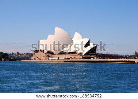SYDNEY, AUSTRALIA - MAY 25: Sydney Opera House in the evening on MAY 25, 2008 in Sydney, Australia. The Sydney Opera House hosts over 1,500 performances each year.