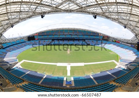SYDNEY AUSTRALIA - NOVEMBER 26: Olympic stadium Sydney, arena for the Olympics of the year 2000, Sydney, November 26, 2009 - stock photo