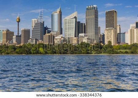 SYDNEY, AUSTRALIA - OCTOBER 26, 2015: Skyline of Sydney with city central business district.