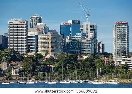 Sydney, Australia on 30th Dec 2015:Cisco Systems based in Lavender Bay Sydney is a US multinational technology company with HQ in California, that designs, manufactures and sells networking equipment. - stock photo