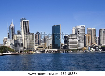 Sydney CBD(Centrsl Business District) from the Harbour