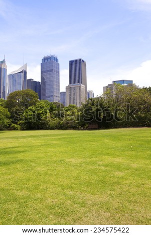 Sydney city building in Hyde Park - stock photo