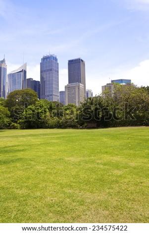 Sydney city building in Hyde Park - stock photo