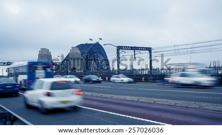 Sydney city, highway - stock photo