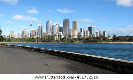 sydney city skyline - stock photo