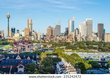 Sydney downtown skyline - stock photo