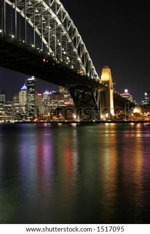 Sydney Harbour Bridge At Night, Australia - stock photo