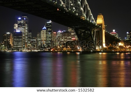 Sydney Harbour Bridge At Night, Australia