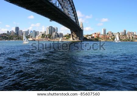 Sydney Harbour bridge in Sydney New South Wales Australia - stock photo