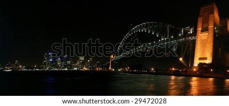 Sydney Harbour (Harbor) and City at Night