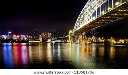 sydney looking north - stock photo