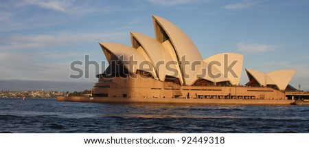SYDNEY - MAY 4: Sydney Opera House view on May 4, 2011 in Sydney. Opera House is one of the most distinctive buildings and one of the most famous performing arts centres in the world. - stock photo
