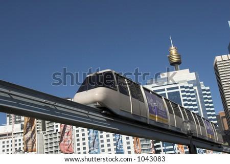 Sydney Monorail - stock photo