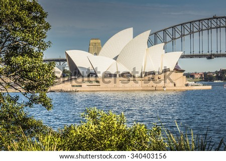SYDNEY - OCTOBER 27 : Opera House on October 27 2015 in Sydney. It is Identified as one of the 20th century's most distinctive buildings and one of the most famous performing arts centres in the world