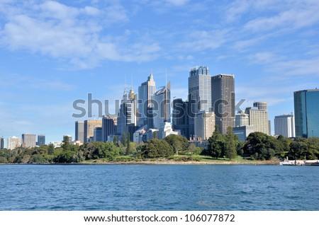 Sydney Skyline on a Clear Winter Day - stock photo