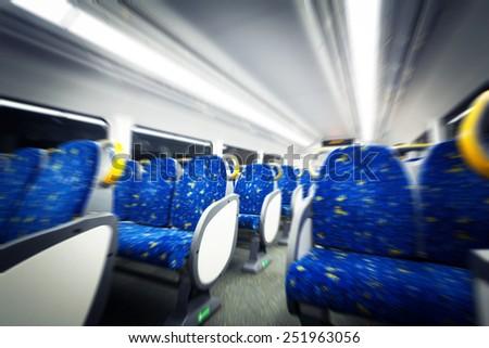 Sydney subway cars - stock photo