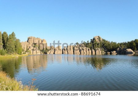 Sylvan Lake and Black Hills rock formations