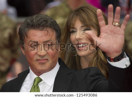 Sylvester Stallone arriving for the UK Premiere of The Expendables 2 at the Empire Cinema in, Leicester Square, London. 13/08/2012 Picture by: Simon Burchell - stock photo