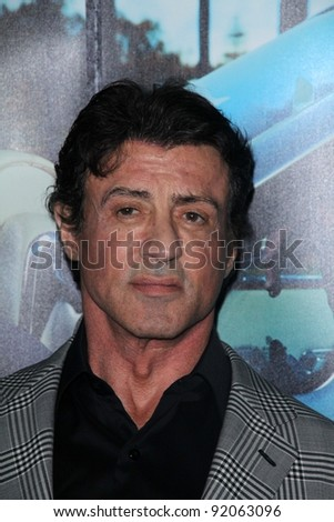 """Sylvester Stallone at HBO's """"His Way"""" Los Angeles Premiere, Paramount Studios,  Hollywood, CA 03-22-11 - stock photo"""