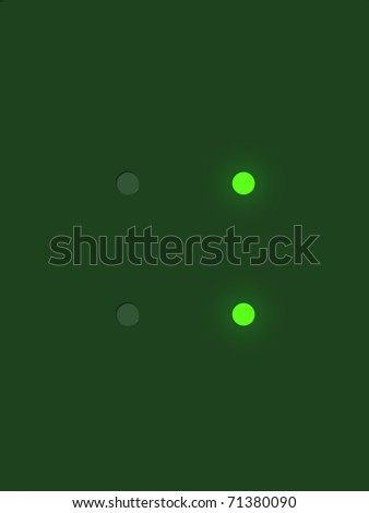Symbol colon from digital display series - stock photo