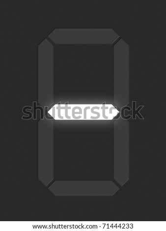 Symbol dash from white digital display series - stock photo