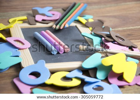symbol for a first day at school  - stock photo