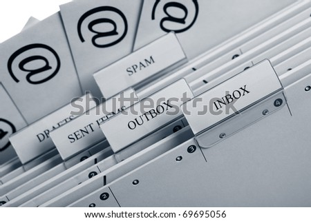 Symbol for email communication - stock photo