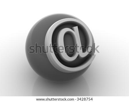 symbol for internet. 3d - stock photo