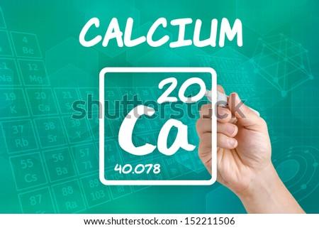 Symbol for the chemical element calcium - stock photo