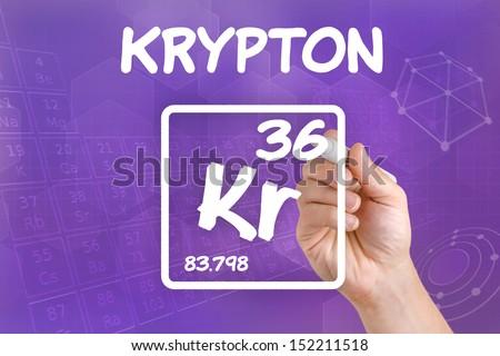 Symbol Chemical Element Krypton Stock Photo Royalty Free 152211518