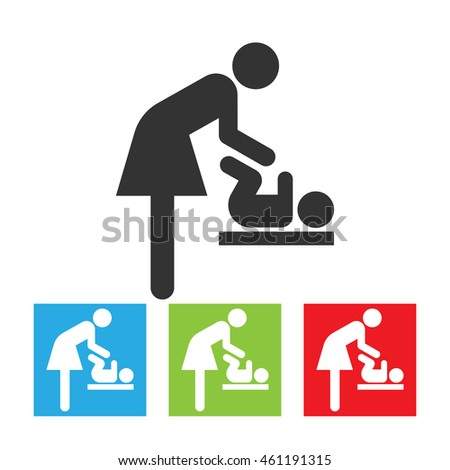 Symbol For Woman And Baby Toilet Room Mothers With Kids Mother Child