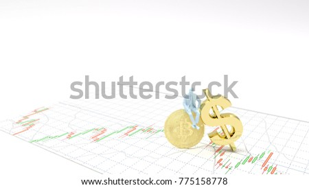 Symbol Gold Dollar Money Gold Bitcoin Stock Illustration 775158778